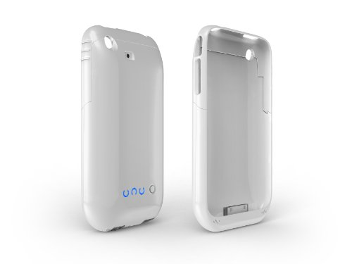 uNu iPhone 3G 3Gs External Battery Case with Camera Flash-Glossy White ()