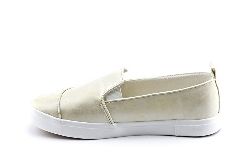 Slip CALICO On Sneakers Cream Canvas Women's Casual Met KIKI ttBxOwHq6