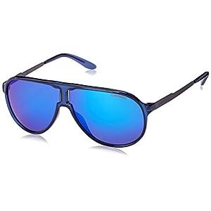 Carrera New Champion Aviator Sunglasses, Blue Ruthenium & ML Blue, 62 mm