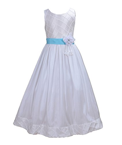 Buy light blue and white bridesmaid dresses - 1