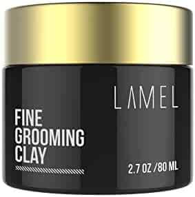 Best Molding Creme for Strong Hold Matte Finish - No Shine Hair Product For Textured Modern Hairstyles - Lamel Styling Clay for All Hair Types 2.7 Ounce