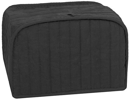 RITZ Polyester / Cotton Quilted Four Slice Toaster Appliance Cover, Dust and Fingerprint Protection, Machine Washable, Black (Best Way To Beat Slot Machines)