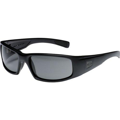 Smith Optics Hideout Tactical Lifestyle Polarized Elite Protective Military Sunglasses/Eyewear - Black/Gray / One Size Fits - Sunglass Smith