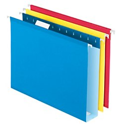 Office Depot Extra Capacity Box Bottom Hanging File Folders, 2in Expansion, Letter Size, Assorted Colors,12 pk, 411704OD
