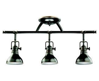 Kichler 7050OZ Rail Light 3-Light Halogen, Olde Bronze