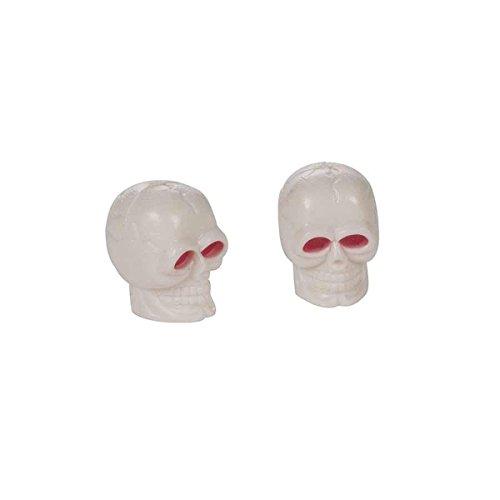 XLC Skull Valve Caps - White by XLC