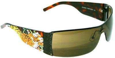 Ed Hardy Tiger Running EHS 009 Sunglasses, Brown