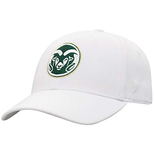 Top of the World Colorado State Rams Men's Memory Fit Hat Icon, White, One Fit