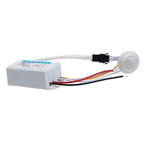 GETADATE AC 220V Infrarrojo PIR Sensor de movimiento ...