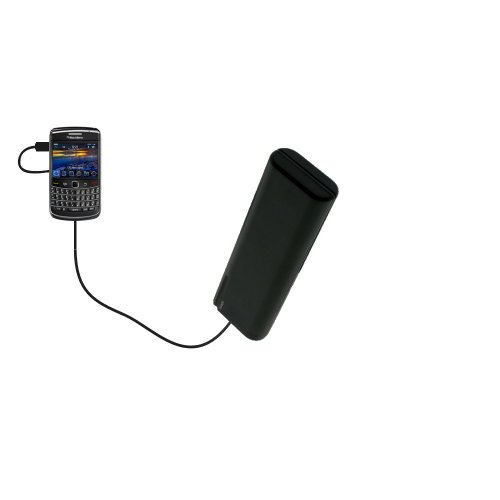 Gomadic Portable AA Battery Pack designed for the Blackberry Bold 9780 - Powered by 4 X AA Batteries to provide Emergency charge. Built using TipExchange Technology