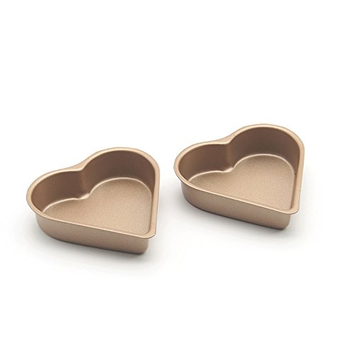 8-Pack 3.5 Inch Heart-shaped Mini Pie Pan, Muffin Cupcake Molds, Tins - NonStick bakeware