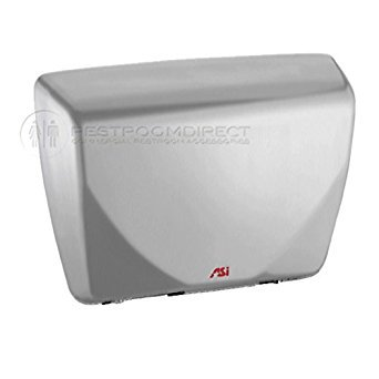 ASI 0185-93 Roval Surface Mounted Sensor Hand Dryer, Steel Cover with Porcelain Satin Stainless Steel Enamel Finish