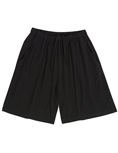 HONG HUI Women's Pajama Pants Soft Sleep Shorts Drawstring Modal Lounge Pants