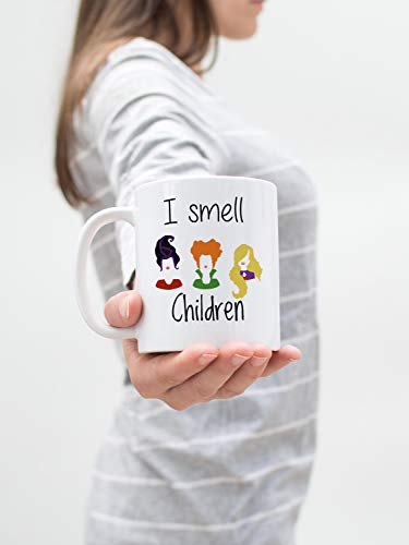 I Smell Children Hocus Pocus Silhouette Quote Mug, Halloween Mug, Halloween saying mug, Fall mug, Witch Mug, Fun Halloween -