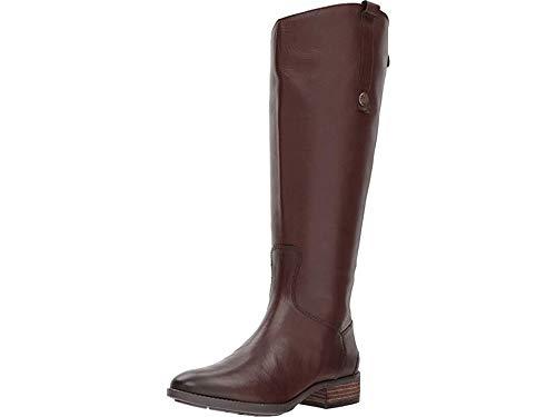 Sam Edelman Women's Penny 2 Wide Calf Leather Riding Boot Dark Brown Basto Crust Leather 6 M US
