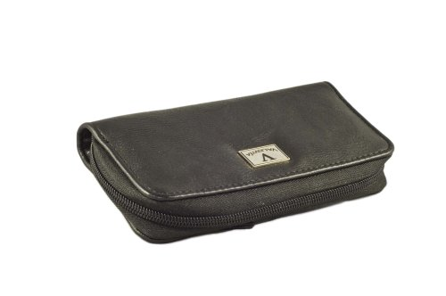 Valentia Cigars Case (holds 4 Cigars), Synthetic Black Leather