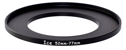 ICE 52mm to 77mm Step Up Ring Filter / Lens Adapter 52 male 77 female Stepping Adapter