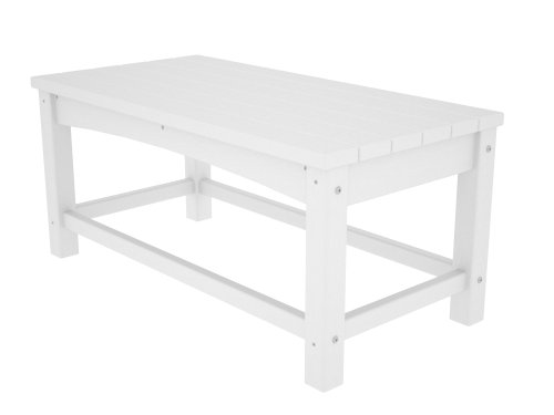 POLYWOOD CLT1836WH Club Coffee Table, White by POLYWOOD