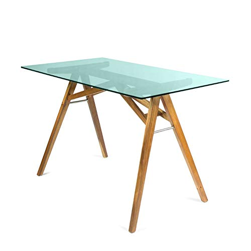 Christopher Knight Home Camila Mid-Century Tempered Glass Desk with...