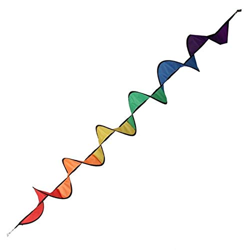 (Spiral Rainbow Wind Spinner Tent Garden Outdoor Kite Tail Windsock Yard Decor Kids Children Toys Nylon Tails)