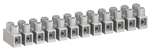 Weco Terminal Blocks - WECO 324-HDS/12-A Connector Block, 2 x 324-HDS/12 Positions, Finger Safe, Cuttable to Smaller Number of Positions, 35 Amp, 300V, Natural (Pack of 2)