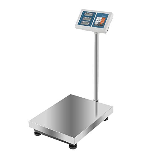 660Lbs Weight Computing Digital Floor Platform Scale Stainless Steel Postal Shipping Mailing by Lykos