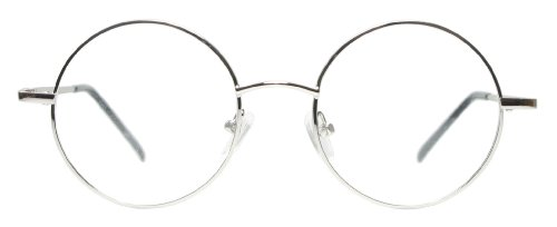 Metal Round Readers Reading Eyeglasses Unisex Black