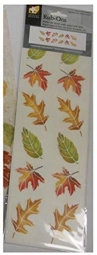 (American Traditional Designs - Fall Leaves Rub Ons Sheet RO-022)