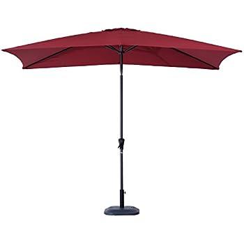Great Outsunny 6.5u0027 X 10u0027 Market Rectangle Patio Umbrella W/ Tilt And Crank