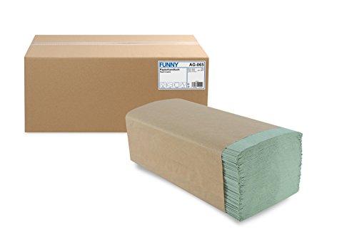 Funny Papieren handdoek, ZZ-vouw, 25 x 23 cm, 1 laags, groen, 5000 vellen, 1 stuk (1 x 1 stuks)