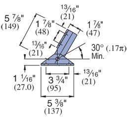 Unistrut 1-5/8'' Adjustable Brace, Electro-Galvanized - Lot of 10