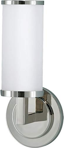 Feiss WB1334PN Industrial Revolution Glass Wall Vanity Bath Lighting, Chrome, 2-Light 20 W x 5 H 200watts