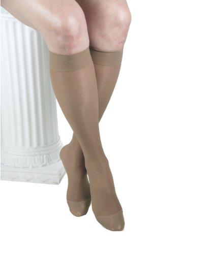 ITA-MED Sheer Knee Highs, Compression (23-30 mmHg) Beige, XLarge