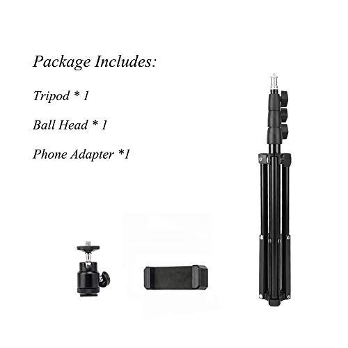 BONFOTO Portacellulare Treppiede Smartphone Tablet Light Supporto per fotocamera Pieghevole Altezza regolabile 50-164 cm