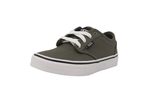 Vans Atwood Canvas Charcoal Gray Shoes Kids/Youth Sneakers Boy's/Girl's (13)