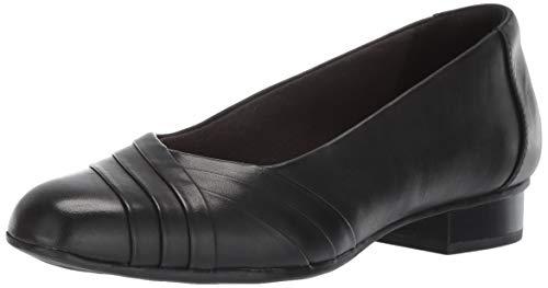 CLARKS Women's Juliet Petra Pump, Black Leather, 8 M US