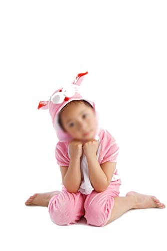 Children's Animal Clothing Halloween Cosplay Jumpsuitstage Costumes,Pink Rabbit,130cm for $<!--$16.12-->