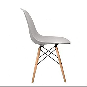 innovative design eeae6 71398 Mmilo High Quality Contemporary Dining Chairs Retro Designer Style Eiffel  Inspired Side Lounge Living Room Office Chair(Light Grey)