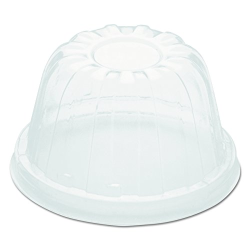 (Dart 12HDLC Clear High Dome Lid (Case of 1000) )