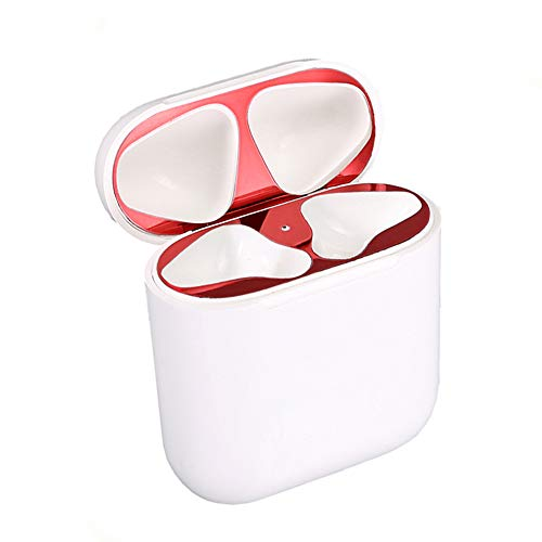 Dust Guard for AirPods(18K Gold Plating)(Protect AirPods from Iron,Metal Shavings) Apple Airpods or 1 & 2 Wired Charging Case (Red) ()