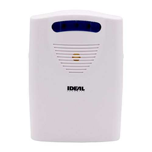 Ideal Security SK664 Wireless Chime 6 Different Sounds, LED Alert, Battery Powered, Works with All SK6 Sensors, White
