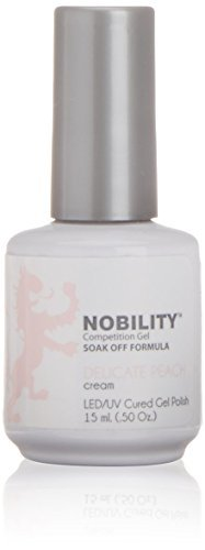 Lechat NOBILITY - Soak Off LED/UV Gel Color Polish 0.5oz/15ml (NBGP78 - Delicate Peach Cream) by - Soak Nobility