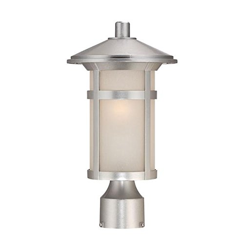 Acclaim 39107BS Phoenix Collection 1-Light Outdoor Light Fixture Post Lantern, Brushed Silver by Acclaim