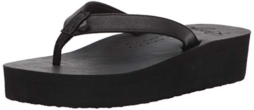 Roxy Women's Melina Platform Sandal, Black, 10 Medium US