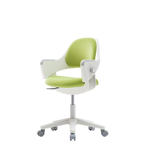 sidiz NEW Ringo Kids Desk Chair Growing Adjustable [Rotating type] (Fabric_Green_F567 + Footrest) by SIDIZ