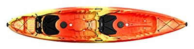 Perception Tribe 13.5 | Sit on Top Tandem Kayak for All-Around Fun | Large Rear Storage with Tie Downs
