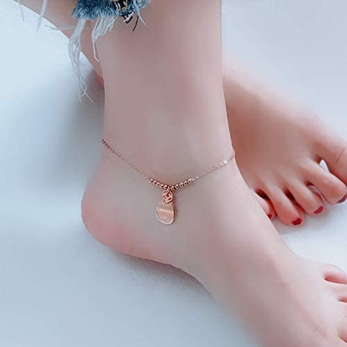 Lucky cat anklets Steel Does not Fade Foot Chain Anklet Ankle Bracelet Jewelry Women Girls Student Simple Enough Exquisite Department Retro Rope Fashion Model
