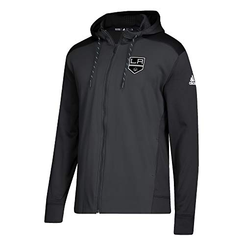 adidas NHL Mens 2018 Fleece Full Zip Pullover (XXX-Large, Los Angeles ()