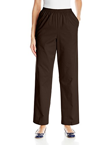 Alfred Dunner Womens Proportioned Medium Twill Pant