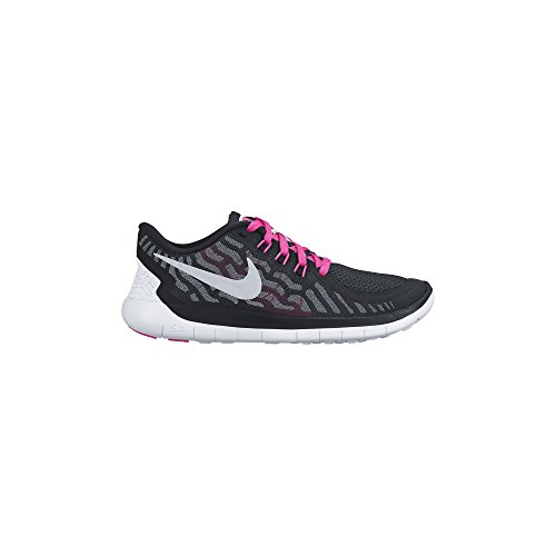 9e9e82d4f Galleon - NIKE Girl s Free 5.0 Running Shoe (GS) Black Vivid Pink Pink Pow Metallic  Silver Size 6 M US